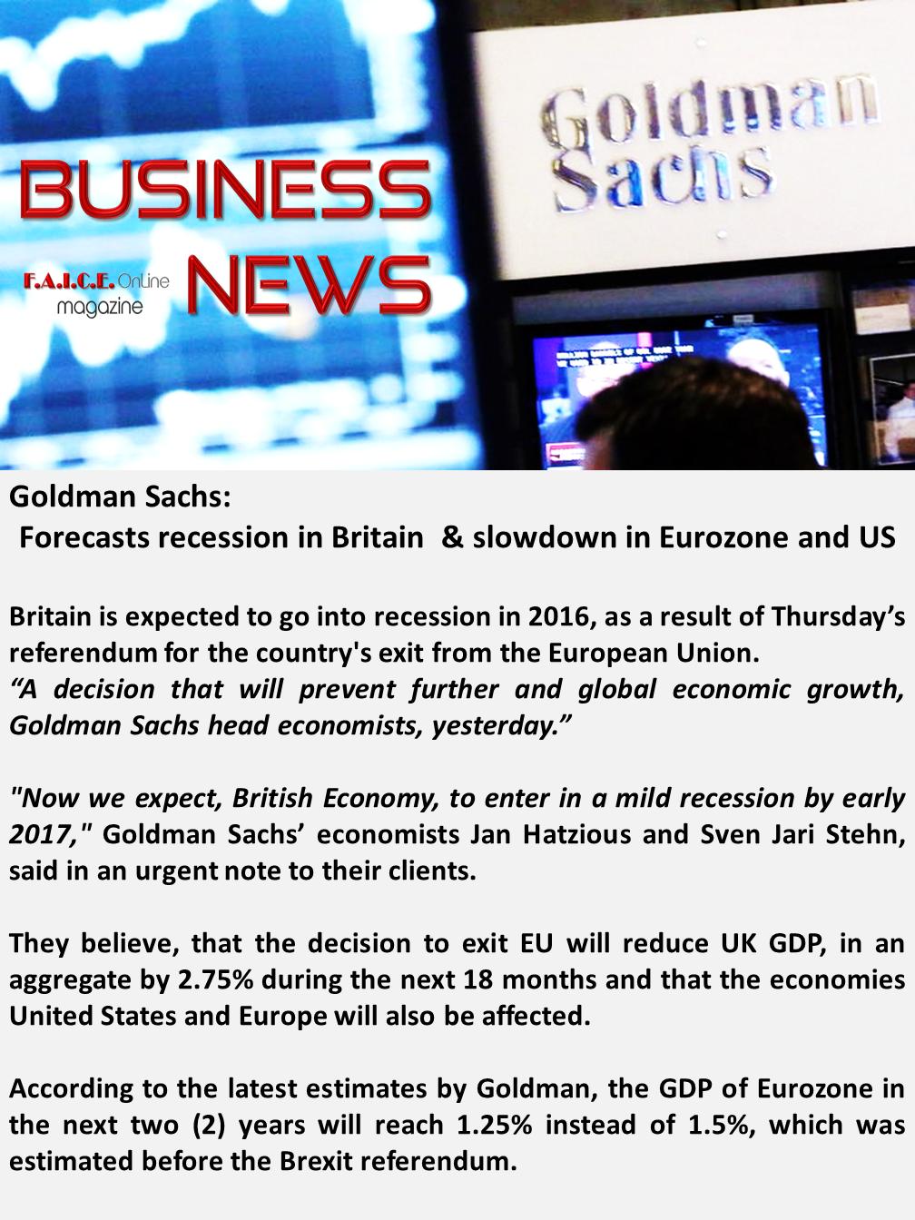 Goldman Sachs Reports