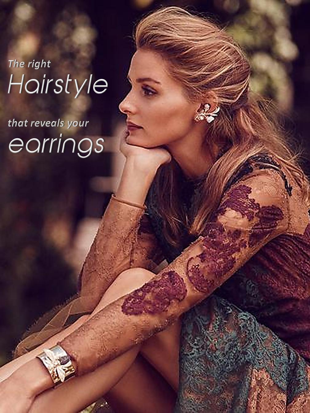 Hairstyle & Earings