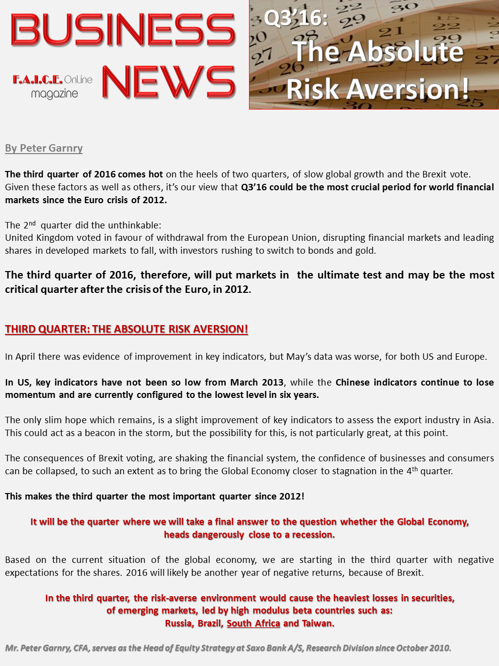 Q3-16: The absolute risk aversion
