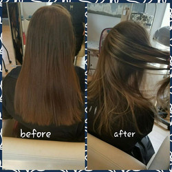 Sun kissed highlights for this beautiful girl💕😊