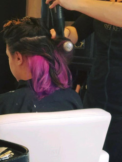 Fun pink to purple ombré