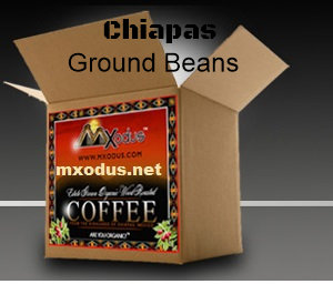 1 Case Organic Chiapas 8oz BAG -      Ground Beans