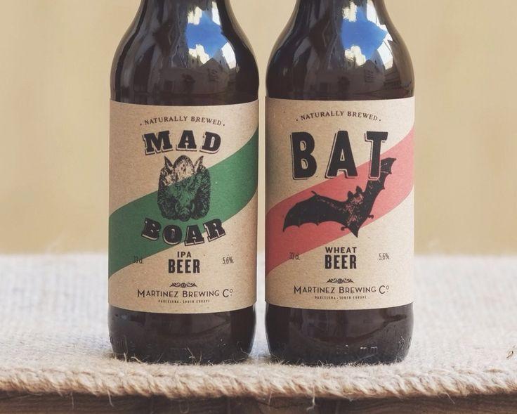 Start-up brewery bottling labels