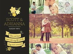 Wedding announcement invite printing