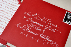 Red envelope white-ink