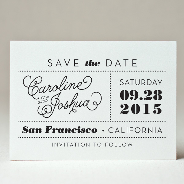 Rush save the date printing