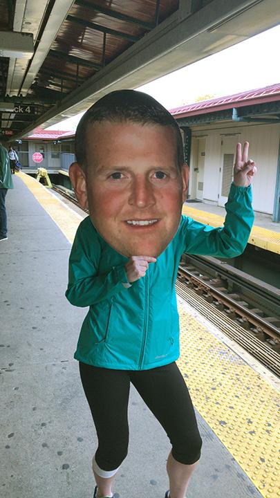 Printed Big head cutout NYC Marathon