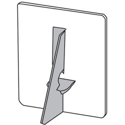 Single wing cardboard easel back