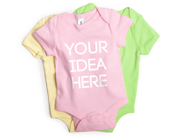 e2342a98d3c32 Custom Onesie Printing | Personailzed Baby Clothing in NYC Graphic Lab