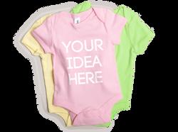 Custom Printed Baby Onesies