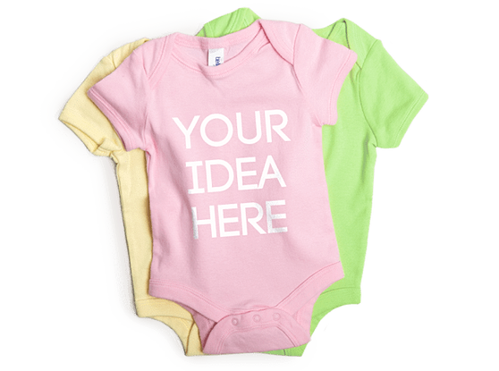 Custom onesie printing personailzed baby clothing in nyc graphic lab custom printed baby onesies negle Image collections