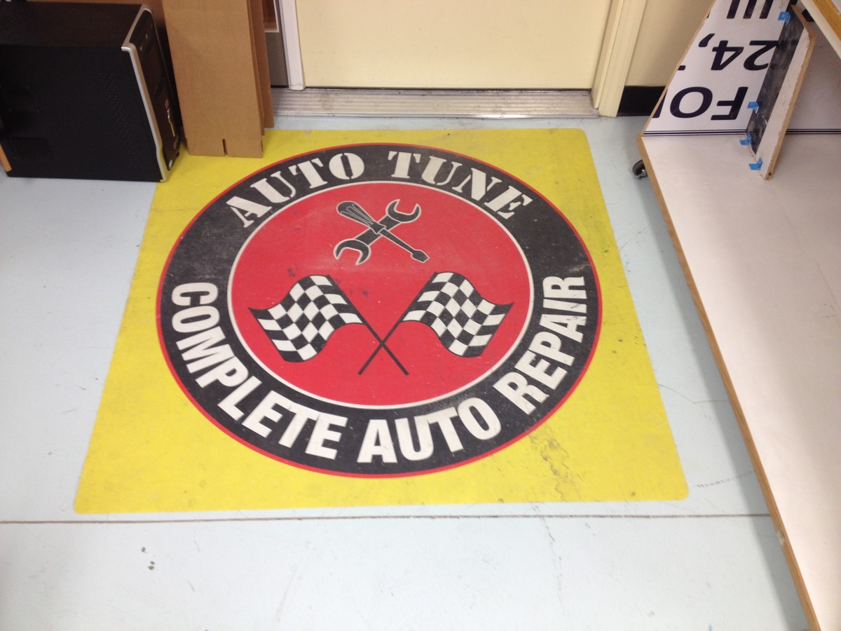 Floor graphics advertising printing
