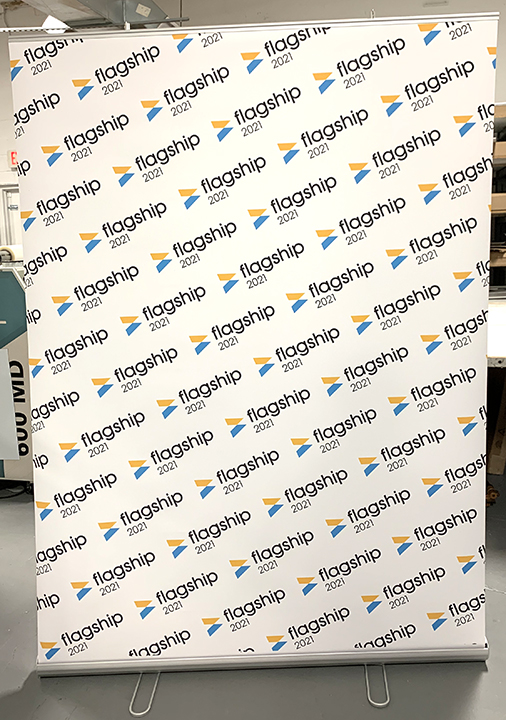 Rollup virtual meeting backdrop bannerstand