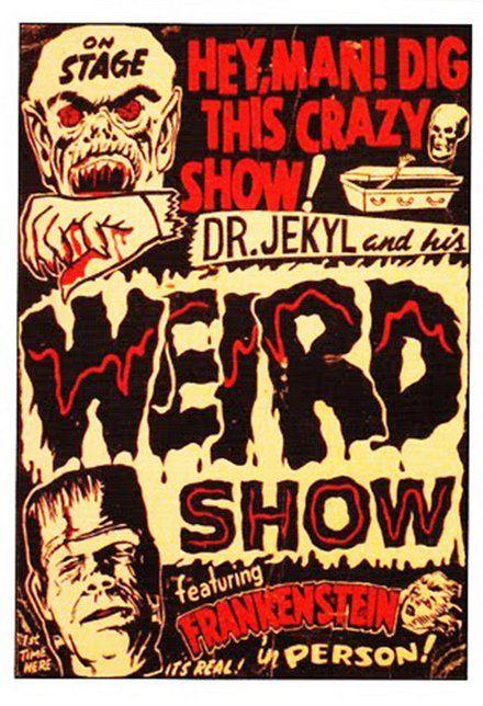 Weird Show Theater poster print