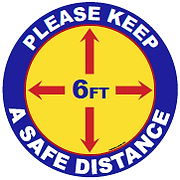 Please_keep_safe_distance.png Covid19 posters retail signage Coronovirus posters floor graphics