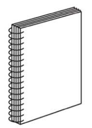 Graphic Lab Spiral / Coil Binding great for presentations