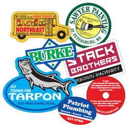 Temporary adhesive decal sticker
