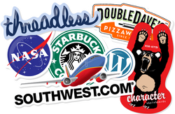 Die-cut permenent adhesive stickers