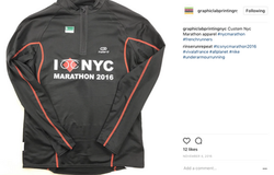 Personalised marathon shirt