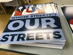 Posters with a satin finish and foam