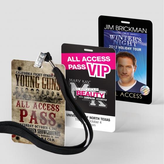 Laminated press credentials