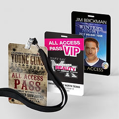 Laminated VIP Badges & Neck Strap Lanyards