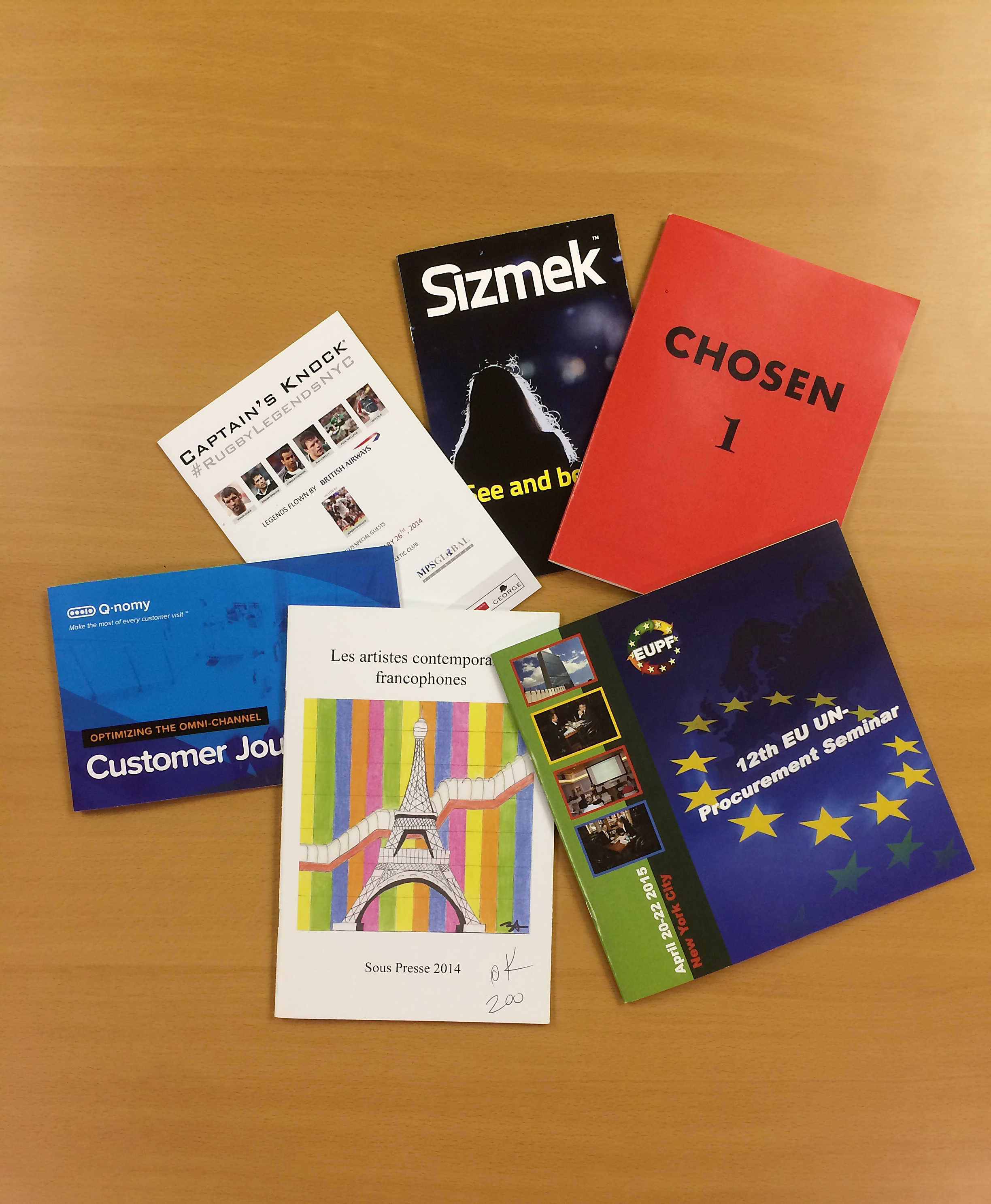 Custom colorful booklet printing NYC