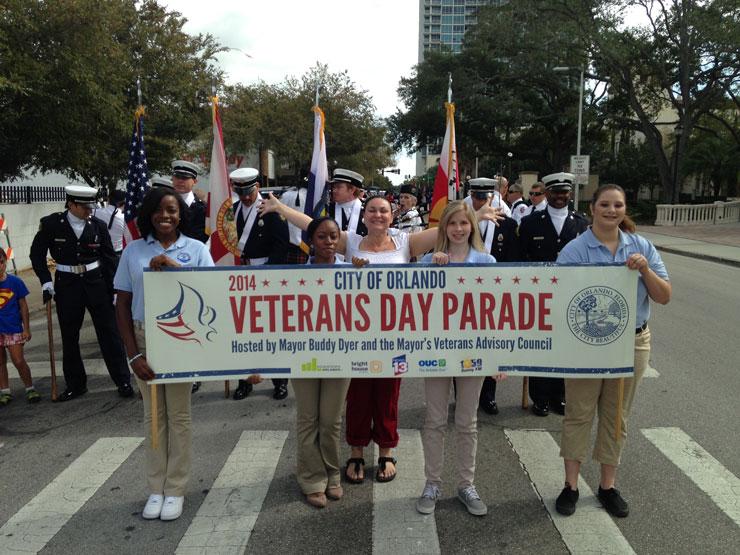 Cheap Veterans Day Parade banner printing