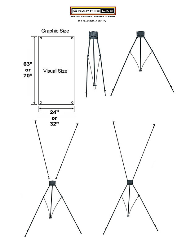 Setup Instructions for X-Frame banner stand printing in NYC