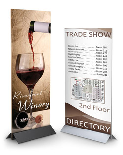 Sign and poster holder stand