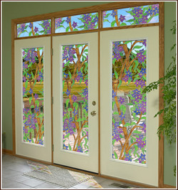Front Door Glass window acetate