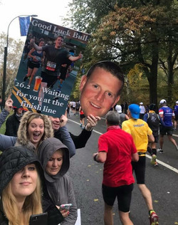 Big head cutout NYC Marathon