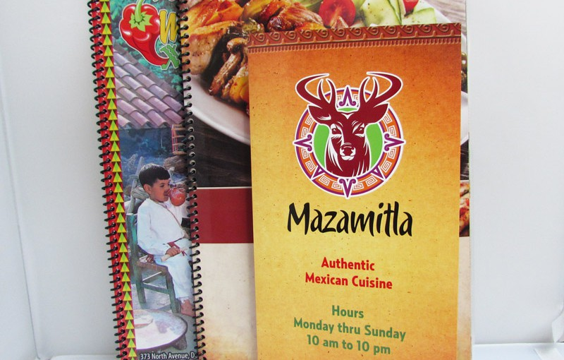 Laminated restaurant menus with coil