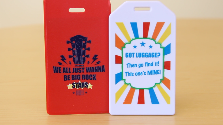 Digital print event tag for gift bag