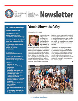 College newsletter printing