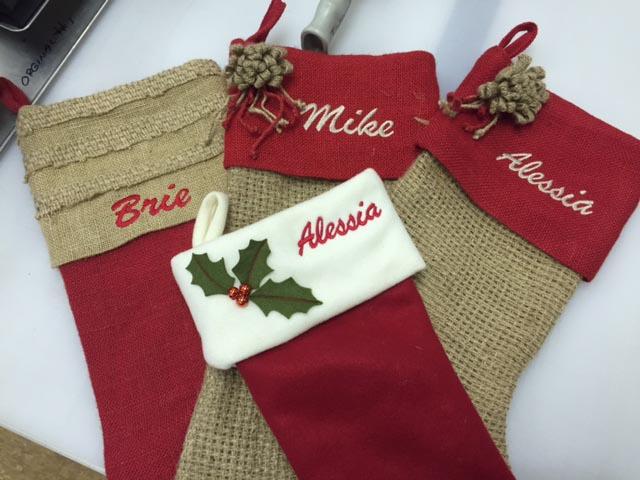 Embroidery on Holiday Christmas