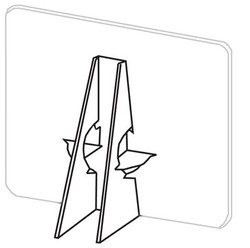 Double wing cardboard easel back
