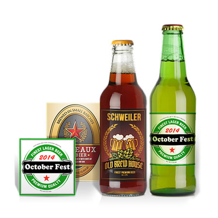 Beer bottle type labels