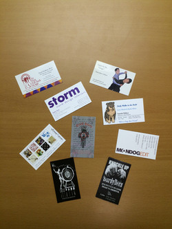 Gift cards with lamination folded