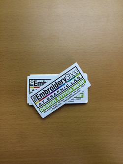 glossy paper crack & peel stickers