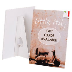 Counter cards with easel back