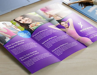 Tri-fold, Bi-fold, single folded brochure, flyers and pamphlets