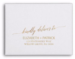 White envelope CMYK gold ink