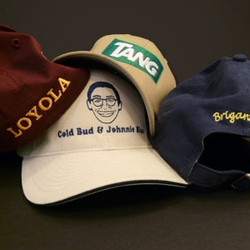 Embroidery on supplied caps