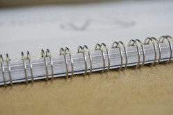 Silver Wire-O Book Binding