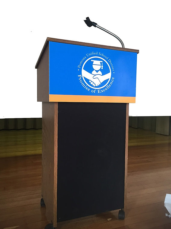 Fast Podium And Lectern Sign Sticker Printing In Nyc