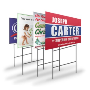 Metal stake signage plast signs