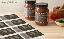 Home made tomato sauce bistro labels
