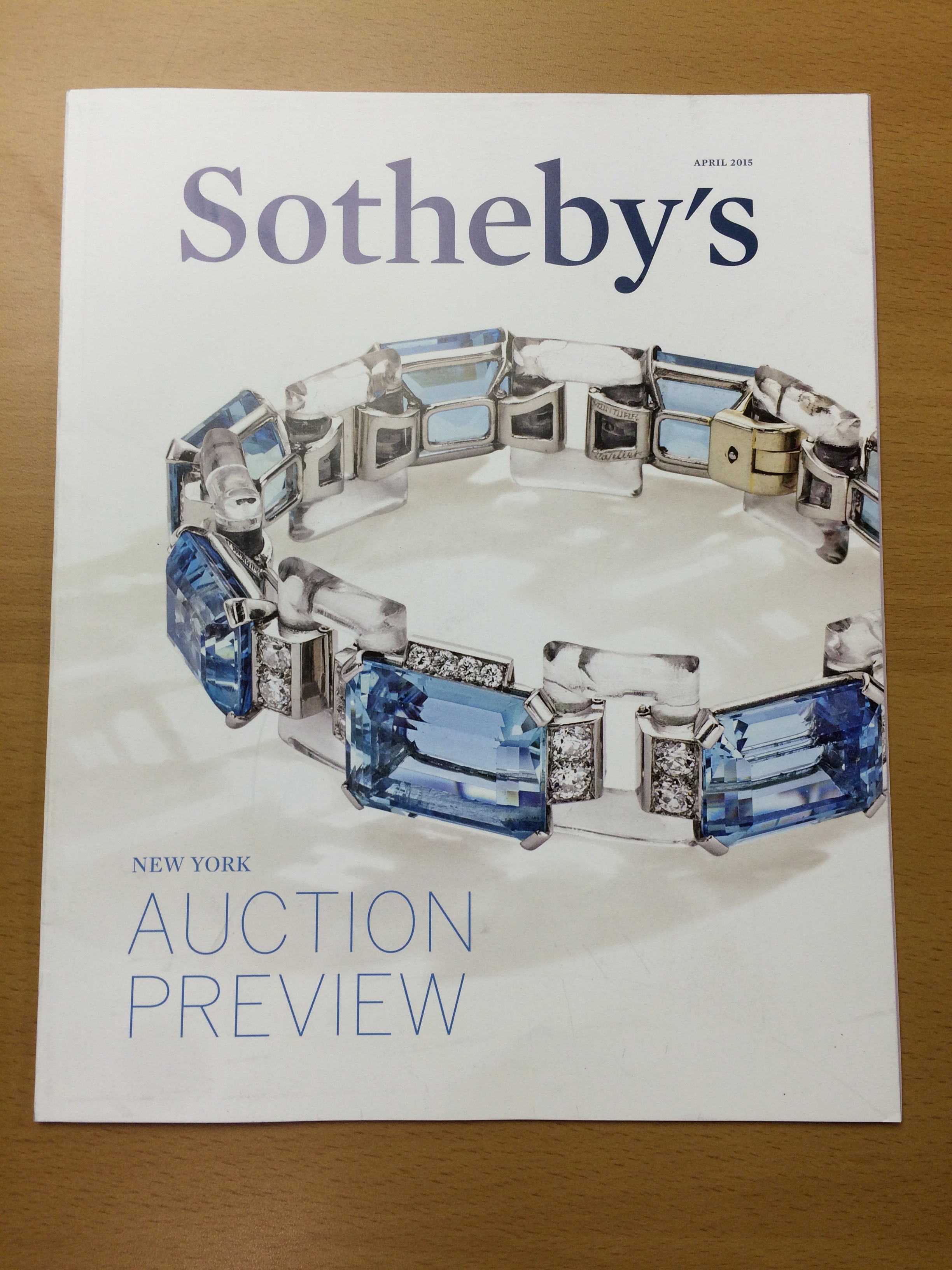 High-end perfect bound auction book
