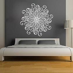 Vinyl wall graphic custon contour shape cut